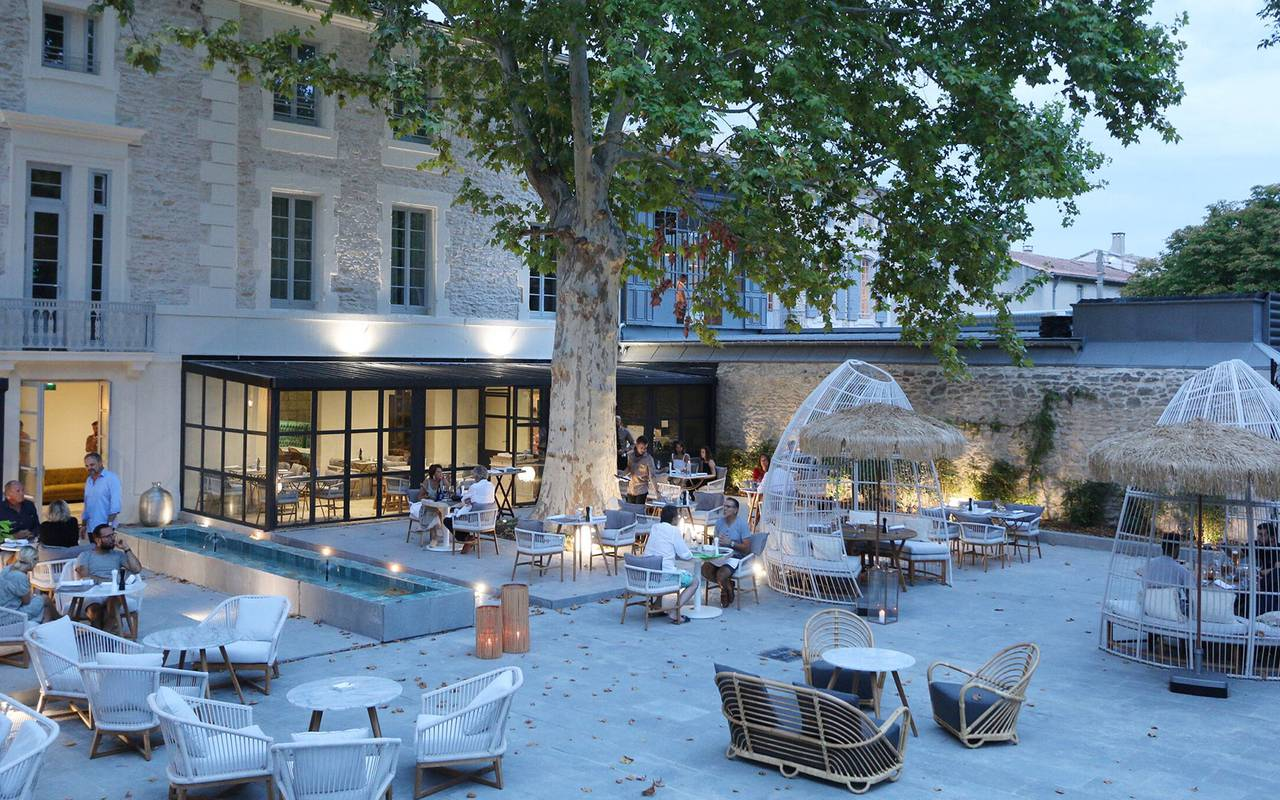 Luxury hotel in Provence by night