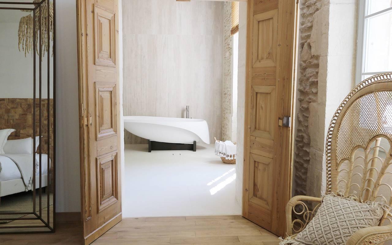 Salle de bain de l'hôtel Le Saint Rémy en Provence