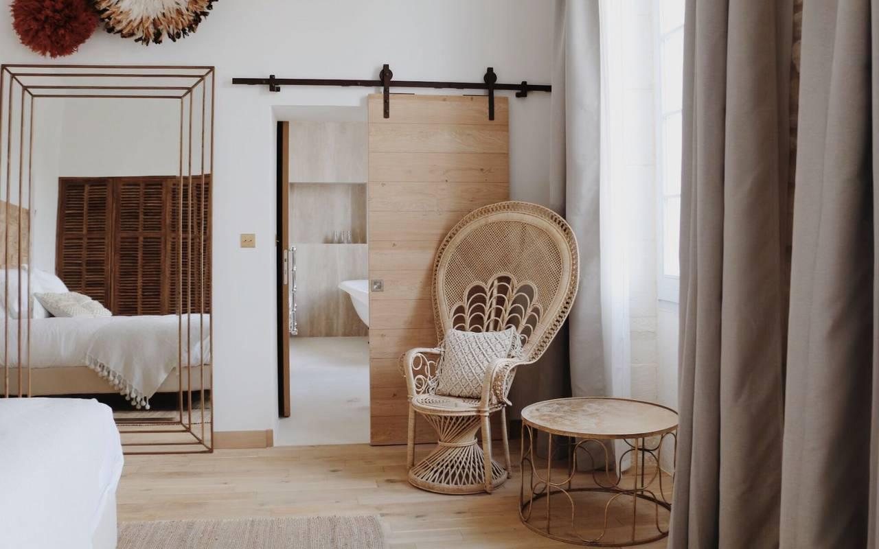 Chambre de l'hôtel de luxe Le Saint Rémy en Provence