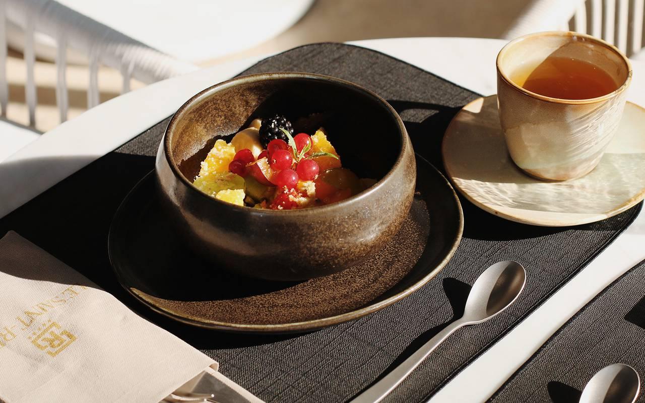 Petit déjeuner de l'hôtel 5 étoiles Le Saint Rémy en Provence